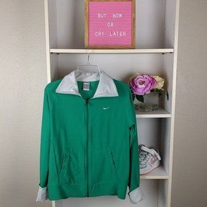 Green Nike Fit Dri Jacket with Pockets SZ M